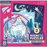 Mudpuppy Magical Unicorn Magnetic Puzzles – Ages 4-7 – Includes 2, 20-Piece Magnetic Puzzles and a Magnetized Tri-Fold Portfo