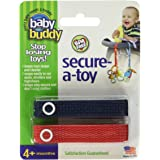 Baby Buddy Secure-A-Toy, Safety Strap Secures Toys, Teether, or Pacifiers to Strollers, Highchairs, Car Seats—Adjustable Leng