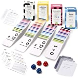 Think Tank Scholar 681 Math Flash Cards with 2 Pairs of 12-Sided Dice: Addition, Subtraction, Multiplication & Division   All