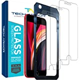 Tech Armor Premium Ballistic Tempered Glass Screen Protector for Apple iPhone SE 2020, iPhone 8 and iPhone 7 - with 99.99% HD
