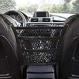 AMEIQ 3-Layer Car Mesh Organizer, Seat Back Net Bag, Barrier of Backseat Pet Kids, Cargo Tissue Purse Holder, Driver Storage