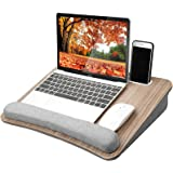 HUANUO Lap Laptop Desk - Portable Lap Desk with Pillow Cushion, Fits up to 15.6 inch Laptop, with Anti-Slip Strip & Storage F