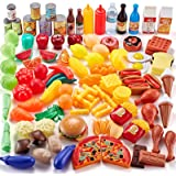 Shimfun Play Food Set 143 Piece Play Food for Kids Kitchen - Toy Food Assortment - Pretend Food for Toddler - Food Toys - Bon