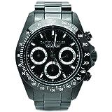 [ダニエル・ミューラー]DANIEL MULLER 腕時計 オールステンレス BLACK DIAL クロノグラフ メンズウォッチ DM-2027BKS ブラック×シルバー