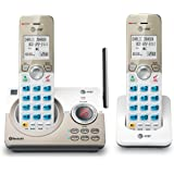 """AT&T DL72219 DECT 6.0 2-Handset Cordless Phone for Home with Connect to Cell, Call Blocking, 1.8"""" Backlit Screen, Big Buttons"""