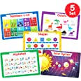 Simply Magic 5 Placemats for Kids - Kids Placemats Non Slip, Washable Reusable Toddler Placemats, Educational Placemats: Alph