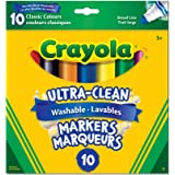 Crayola Ultra-Clean Washable Markers - 10 Classic Colours