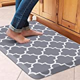 """WiseLife Kitchen Mat Cushioned Anti-Fatigue Kitchen Rug,17.3""""x 28"""",Non Slip Waterproof Kitchen Mats and Rugs Heavy Duty PVC E"""