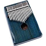 Moozica 17 Keys Kalimba Thumb Piano, Tone Wood Marimba with Professional Kalimba Case and Learning Instruction (Mahogany-K17B
