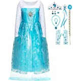 FUNNA Princess Costume for Girls Snow Party Queen Dress Up