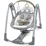 Ingenuity Boutique Collection Swing 'n Go Portable Swing - Bella Teddy, Grey