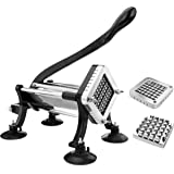 New Star Foodservice 43204 Commercial Grade French Fry Cutter with Suction Feet, 1/2 Inch and 3/8 Inch Blades, Limited Editio