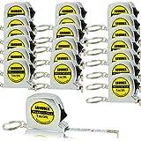 20 Pack Measure Tape Keychains PowerLock Key Tape Mini Tape Measures with Stable Slide Lock 1m/3feet