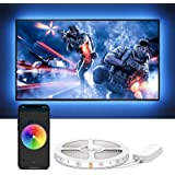 Govee LED TV Backlight 6.56ft/2m RGB Strip Light,Non-Waterproof TV Bias Lighting Kit with Remote Controller for HDTV Desktop