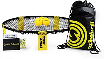 Spikeball Standard 3 Ball Kit - Includes Standard Set, 3 Balls, and Carrying Bag