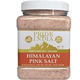 Pride Of India - Pure Himalayan Pink Salt - Enriched w/ 84+ Natural Minerals, Fine Grind 2.5 Pound (40oz) Jar - Himalayan Sal