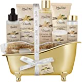 Spa Gift Basket for Women, Vanilla Bath & Body Set, Christmas, Mother's Day & Birthday Gift, Includes Shower Gel, Body Lotion