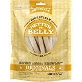Better Belly Chicken Liver Small Rawhide Rolls, 20-Count