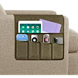 Joywell Sofa Armrest Organizer, 5 Pockets Remote Holder on Couch & Chair Arm for TV Remote Control, Magazine, Books, Cell Pho