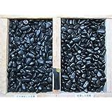 最高ランク 黒玉砂利(彩光石)自然玉 3分(7mm~12mm) 1袋20Kg