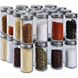 HAIBO 34 Pcs Small Glass Spice Jars(4 oz),Ball Spice Containers Bottles Shaker Lids and Airtight Metal Caps,Mini jars,for Her