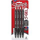 Sharpie S-Gel, Gel Pens, Medium Point (0.7mm), Assorted Colors, 4 Count