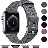 Vitty Woven Fabric Band Compatible with Apple Watch 38mm 40mm 42mm 44mm for Women Men, Soft Woven Fabric Replacement Band (Ch