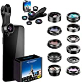 Phone Camera Lens 5 in1 Kit for iPhone Xs/R/X/8/7/6s Pixel, Samsung. 2xTele Lens Zoom Lens+198°Fisheye Lens+0.63XWide Angle L