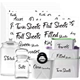 242 PCS Home Office Organization Labels Printed Customizable Water Resistant Stickers with Perforation Line in Various Sizes