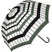 a.s.s.a 傘 レディース 長傘 ジャンプ おしゃれ ワンタッチ 58cm グラスファイバー 雨傘 超撥水加工 RJ (RJ222/GREEN)