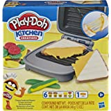 Play-Doh E7623 Kitchen Creations Cheesy Sandwich Play Food Set for Kids 3 Years and Up With Play-Doh Elastix Compound and 6 A