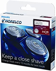 Philips Philishave Norelco HQ9 smart touch-XL/speed-XL, shaver heads razor blades cutters and foils replacement shaving head 3 pack (does not include head frame) [並行輸入品]