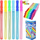 JOYIN 24 Pack 14'' Big Bubble Wands Bulk (2 Dozen) for Summer Toy, Outdoor / Indoor Activity Use, Easter, Bubbles Party Favor