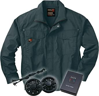 空調服ブルゾンセット (空調服+ファン+リチウムバッテリー) ss-ku91400-l L チャコール