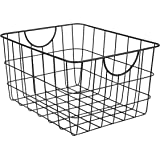 Spectrum Diversified 08410 Wire Pet, Toy, Office, Dorm Storage Bin Organizer, Utility Basket, One Size, Black