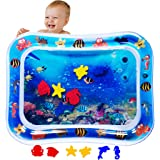 MABIZ Tummy Time Baby Water Mat - Inflatable Water Play Mat For Newborn Boy and Girl Stimulation Growth Toddler Sensory Toys