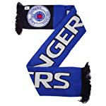 Rangers FC Official Nero Knitted Football Crest Supporters Scarf