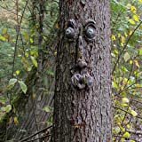 INNOLITES Old Man Tree Hugger,Bark Ghost Face Facial Features Decoration Tree Face Decor for Outdoor Funny Yard Art Garden De