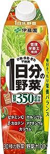 伊藤園 1日分の野菜 キャップ付 屋根型紙パック 1L×6本