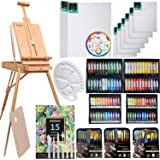 MEEDEN 145 Piece Deluxe Artist Painting Set with French Easel, Art Painting Brushes, Paint Tubes, Painting Pads, Stretched Ca