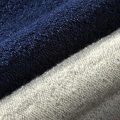 Loopwheeler Crewneck Sweat Shirt: Marine, Grey