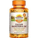 Sundown Naturals Calcium, Magnesium and Zinc High Potency, 100 Caplets