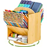 Bamboo Double Side Desk Organizer Storage Accessories