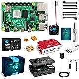 LABISTS Raspberry Pi 4 4B-32GB(技適マーク入)MicroSDHCカード32G/NOOBSシステムプリインストール/カードリーダ /5.1V/3A Type-C スイッチ付電源/MicroHDMI-to-HDMIケーブルラ