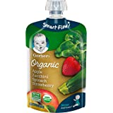 Gerber Organic 2nd Foods Baby Food Apple, Zuchini, Spinach and Strawberry Pouch, 12 Count