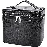 Coofit Adult Beauty Box Crocodile Pattern Leather Makeup Case Large Black One Size Multicoloured
