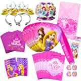 Disney Princess Party Supplies Ultimate Set (150 Pieces) -- Party Favors, Birthday Party Decorations, Plates, Cups, Napkins,