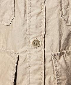 Safari Shirt Blouson 1125-163-0879: Beige