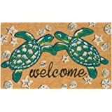 "Trans Ocean Coconut Area Rugs Liora Manne Natura Seaturtle Welcome Indoor/Outdoor Mat Natural 18"" X 30"" 18 X 0.06 X 30 Inches"