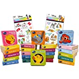 Disney Board Books Set for Babies Toddlers Ages 1-3 Years ~ Pack of 24 My First Baby Animals Mini Disney Book Blocks Board Bo